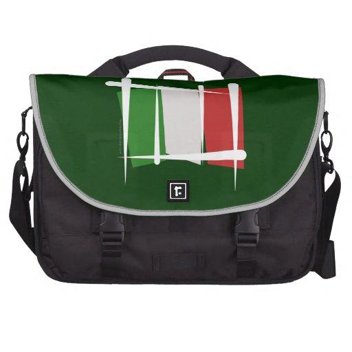Bandera del cepillo de Italia Bolsas De Ordenador