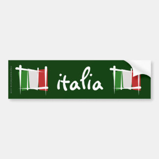 Bandera del cepillo de Italia Pegatina Para Auto