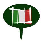 Bandera del cepillo de Italia Decoración De Tarta