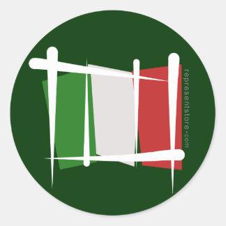 Bandera del cepillo de Italia Etiqueta