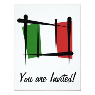 """Bandera del cepillo de Italia Invitación 4.25"""" X 5.5"""""""