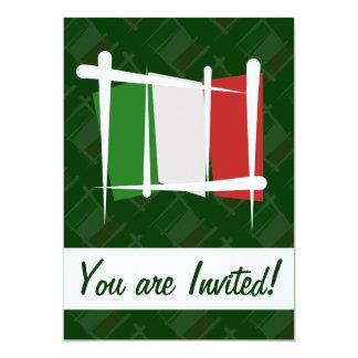 """Bandera del cepillo de Italia Invitación 5"""" X 7"""""""
