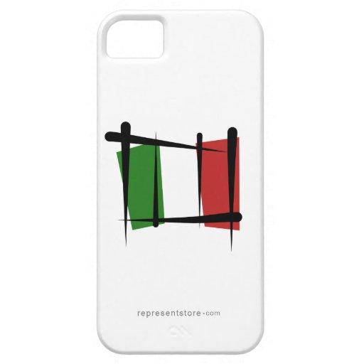 Bandera del cepillo de Italia iPhone 5 Funda