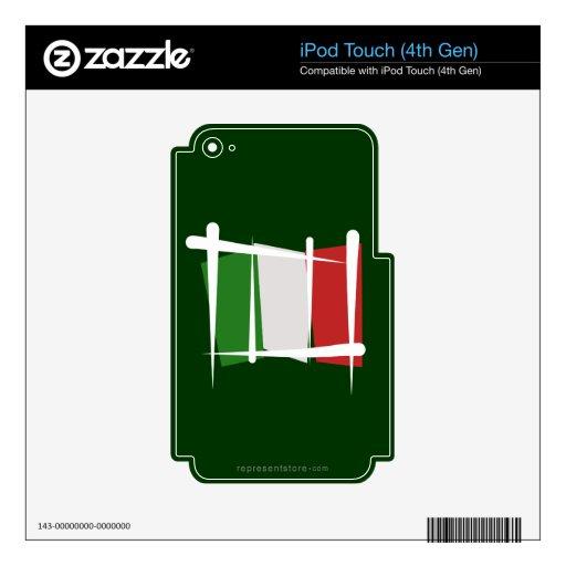Bandera del cepillo de Italia iPod Touch 4G Skin