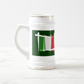 Bandera del cepillo de Italia Jarra De Cerveza
