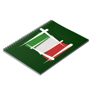Bandera del cepillo de Italia Libro De Apuntes Con Espiral