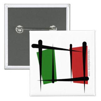 Bandera del cepillo de Italia Pins