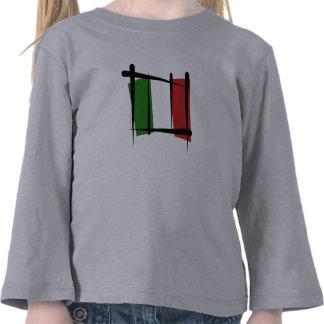Bandera del cepillo de Italia Camiseta