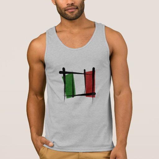 Bandera del cepillo de Italia Playeras Con Tirantes