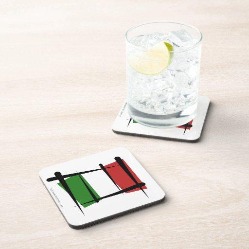 Bandera del cepillo de Italia Posavasos De Bebidas