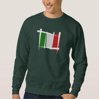 Bandera del cepillo de Italia Pullover Sudadera