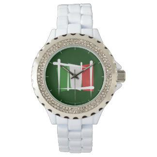 Bandera del cepillo de Italia Relojes