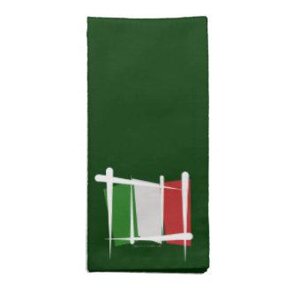 Bandera del cepillo de Italia Servilletas