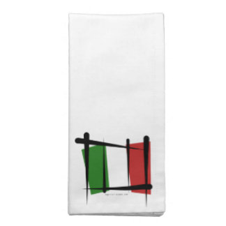 Bandera del cepillo de Italia Servilleta De Papel