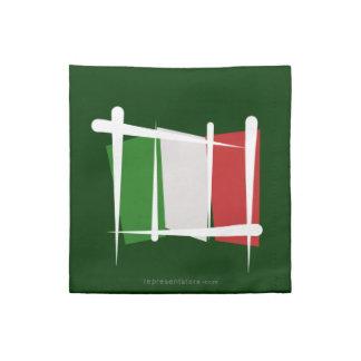 Bandera del cepillo de Italia Servilleta Imprimida