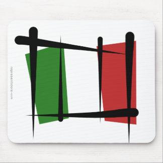 Bandera del cepillo de Italia Tapete De Ratón