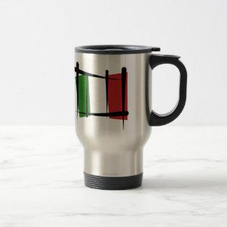 Bandera del cepillo de Italia Tazas De Café