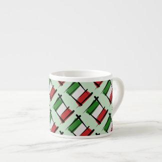 Bandera del cepillo de Italia Taza Espresso