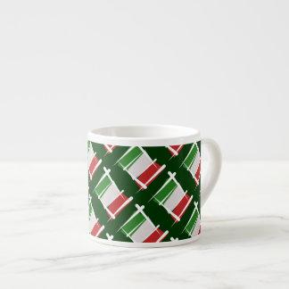 Bandera del cepillo de Italia Tazas Espresso