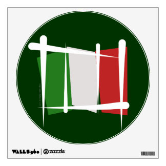 Bandera del cepillo de Italia Vinilo