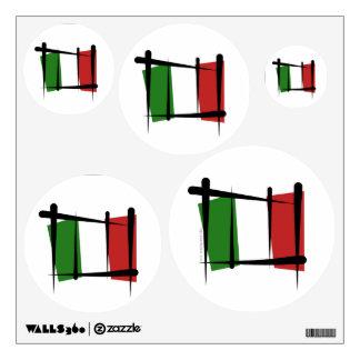 Bandera del cepillo de Italia Vinilo Adhesivo