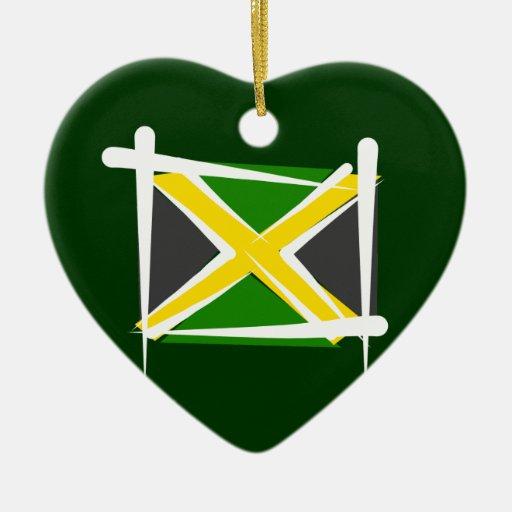 Bandera del cepillo de Jamaica Adorno