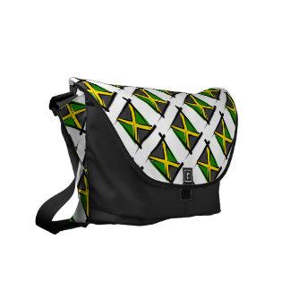 Bandera del cepillo de Jamaica Bolsa De Mensajeria