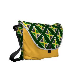 Bandera del cepillo de Jamaica Bolsas De Mensajería