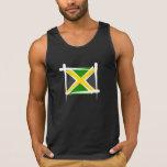 Bandera del cepillo de Jamaica Camisetas