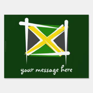 Bandera del cepillo de Jamaica Carteles