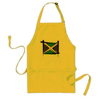 Bandera del cepillo de Jamaica Delantal