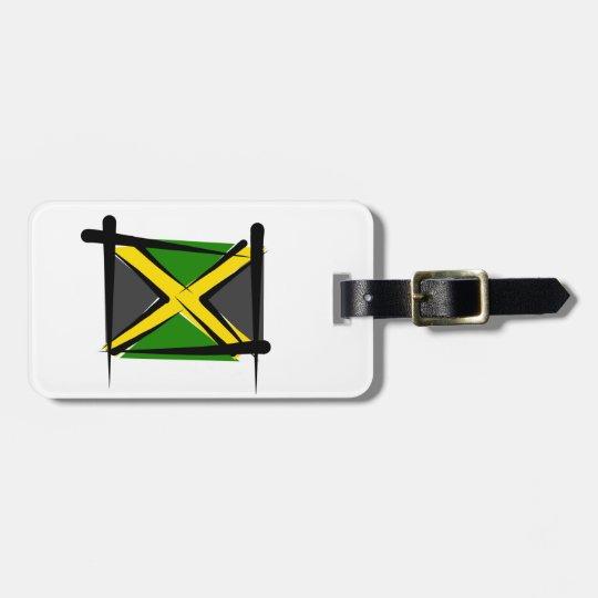 Bandera del cepillo de Jamaica Etiquetas Para Maletas