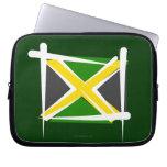 Bandera del cepillo de Jamaica Fundas Ordendadores