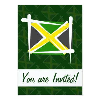 """Bandera del cepillo de Jamaica Invitación 5"""" X 7"""""""