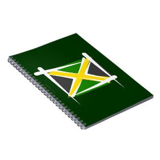 Bandera del cepillo de Jamaica Libretas Espirales