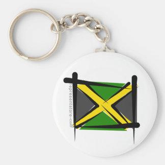 Bandera del cepillo de Jamaica Llavero Redondo Tipo Pin