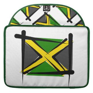 Bandera del cepillo de Jamaica Funda Macbook Pro