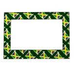 Bandera del cepillo de Jamaica Marcos Magneticos Para Fotos