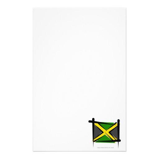 Bandera del cepillo de Jamaica Papeleria Personalizada