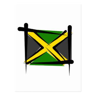Bandera del cepillo de Jamaica Postales