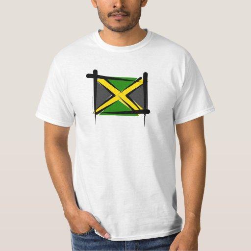 Bandera del cepillo de Jamaica Remera