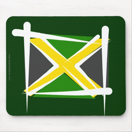 Bandera del cepillo de Jamaica Alfombrilla De Ratón