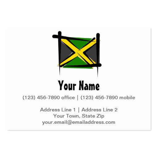 Bandera del cepillo de Jamaica Tarjetas De Visita Grandes