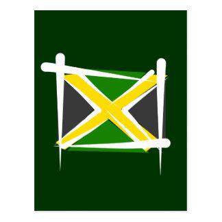 Bandera del cepillo de Jamaica Tarjetas Postales