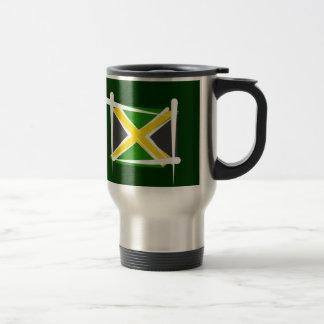 Bandera del cepillo de Jamaica Tazas De Café