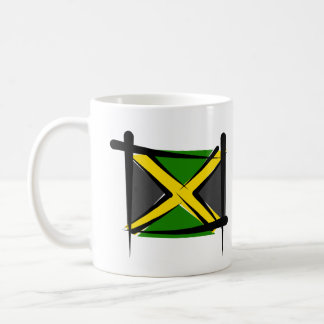 Bandera del cepillo de Jamaica Tazas