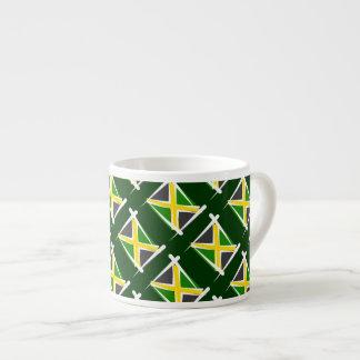 Bandera del cepillo de Jamaica Taza Espresso