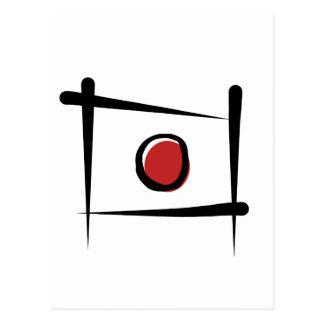 Bandera del cepillo de Japón Postales