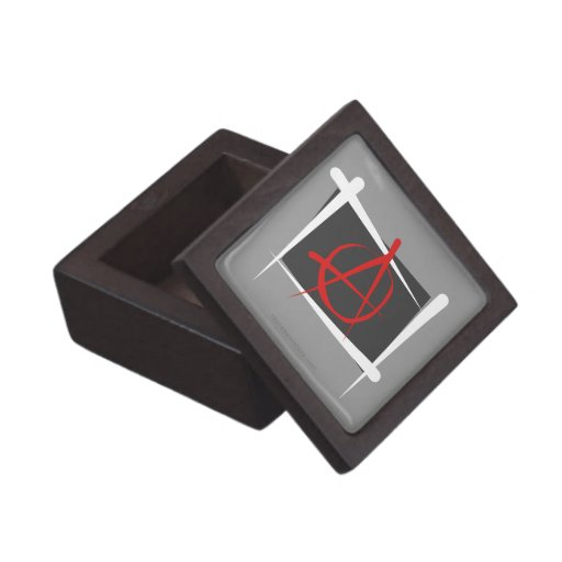 Bandera del cepillo de la anarquía cajas de joyas de calidad