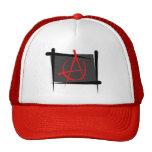 Bandera del cepillo de la anarquía gorros bordados